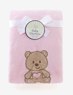 BABY STARTERS PINK BEAR BLANKET