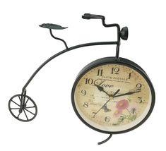 European Simple Creative Iron Art Antique Finishing Bicycle Clock