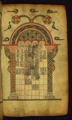 https://flic.kr/p/a4Rysq | Ethiopian Gospels, Canon table, Walters Manuscript W.836, fol. 5r | This Gospel book was written in Tǝgray, Northern Ethiopia, in the early fourteenth century, and was once owned by the church of St. George in Däbrä Mä'ar. It is written by the scribe Mäṭre Krǝstos in the official liturgical language of Ethiopia, Gǝ'ǝz. Most notable is its prefatory image cycle, which makes references to holy places in Jerusalem, such as Golgotha and the Holy Sepulcher, as they…