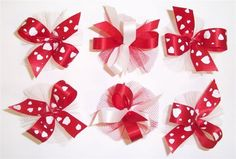 AC0910 - I love You Hair Bow Collection