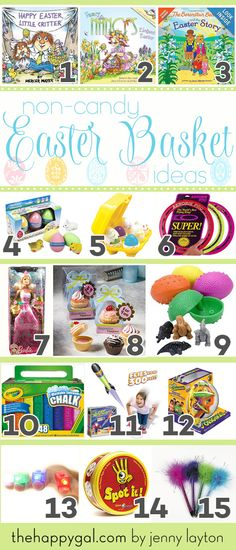 Non-Candy Easter Basket Ideas for the Kids - The Happy Gal