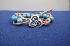 Green Ceramic Bead Leather Wrap Bracelet by JenEmCreates on Etsy, $30.00