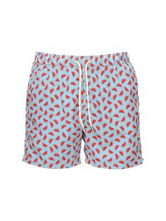 Quick Dry Mens Beach Shorts Ice Cream Print Swim Trunks Surf Board Pants Pockets