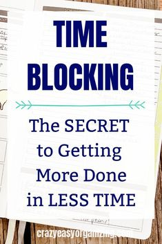 Do you feel like there's not enough time to get everything done? If you'd like to get more done everyday try TIME BLOCKING! It's an easy strategy time management strategy that COSTS NOTHING and can be implemented RIGHT AWAY! Time Management Activities, Time Management Printable, Time Management Tools, Effective Time Management, Time Management Strategies, Management Quotes, Productive Things To Do, Getting Things Done, Self Improvement