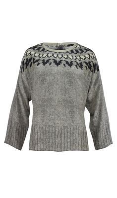 ETCETERA | Collections | Boutique | Holiday 2013 | 212111.  It's tricky!  A silk top that looks like a sweater.