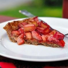 Paleo Strawberry Rhubarb Pie by kohlercreated