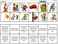 Begrijpend lezen (zinnen): thema Sinterklaas Learn Dutch, Saint Nicolas, Good Company, Mini, Back To School, Diy And Crafts, December, Playing Cards, Classroom