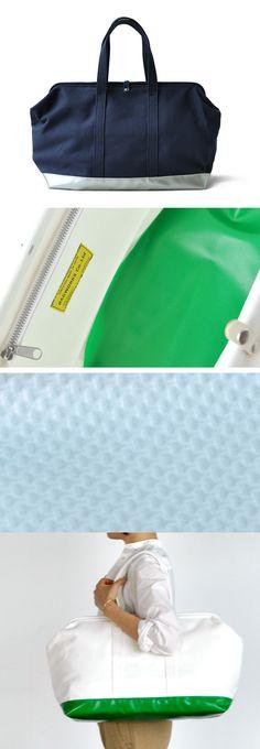 【BAGWORKS DOCTORMAN(中川政七商店)】/ドクターズバッグ(ダレスバッグ)の形にヒントを得て作られた帆布素材のバッグです。4号帆布の丈夫な素材で、アルミの口金を使った大きく開く口は出し入れのしやすさや中のモノを探すのにとても便利です。底部の生地はテントなどに使われる防水性の高いターポリンを使用。汚れや水に強く、どこでも気軽に置くことができます。内装には仕切りツリポケットがついています。 #bag #bagworks