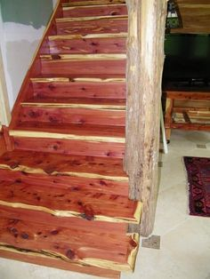 Best Beautiful Cedar Staircase A Dream Home Someday 640 x 480
