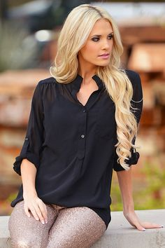 High Expectations Top - Black