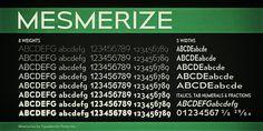 8 weights x 5 Widths x (Regular + Italics) = 80 Free Fonts!!!!!  Mesmerize Font | dafont.com