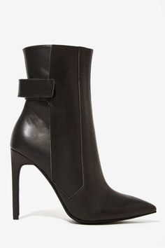 a8da4846914 Jeffrey Campbell Shara Leather Boots - Shoes Bootie Boots