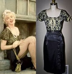 Marilyn Monroe Peasant Top & Wiggle Skirt- Bus Stop-Custom Made Marylin Monroe, Marilyn Monroe Outfits, Marilyn Monroe Costume, Marilyn Monroe Photos, Celebrity Outfits, Celebrity Style, Vintage Dresses, Vintage Outfits, Norma Jeane