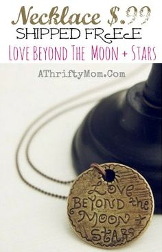 love beyond the moon and stars necklace, only $.99 each shipped FREE #Fashion, #Teen, #Gift