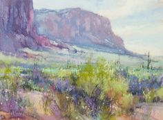 Desert Radiant by Richard McKinley Pastel ~ 9 x 12