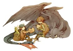 How To Train Your Dragon by *Luce-in-the-sky on deviantART. huh. they included both Hiccups and both Toothlesses.