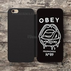 d344638996 Obey make art not war Wallet Case For iPhone 6S Plus 5S SE 5C 4S case