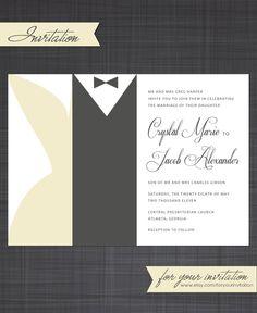 Black Tie  Invitation by foryourinvitation on Etsy, $18.00