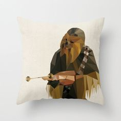Chewbacca Star Wars Pillow Cushion Cover. Yes,  I will own this