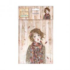 Docrafts Colour Me In Rubber Stamps - Santoro - Souvenir DHiver