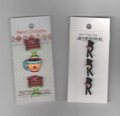 Designer Buttons-Sweet Delights-Vicki Schreiner Tea Time-Coffee Cup/Cake--3 Pc #ButtonsGalore