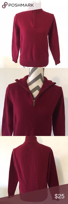 J. Crew wool pullover sweater This sweater is in great condition! No pilling. 100% lambs wool. 23 inches long. 17 inch sleeves. 20 inches across the bust. Pet free non-smoking home. Burgundy. No marks!                              🔹suggested user • fast shipper🔹                      🔸bundle to save 15% 🔸300+ items🔸 J. Crew Sweaters