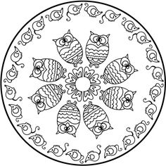 Looking for a Coloriage à Imprimer Mandala Hiboux. We have Coloriage à Imprimer Mandala Hiboux and the other about Coloriage Imprimer it free. Easy Mandala Drawing, Mandalas Drawing, Mandala Coloring Pages, Animal Coloring Pages, Colouring Pages, Printable Coloring Pages, Adult Coloring Pages, Coloring Sheets, Coloring Books
