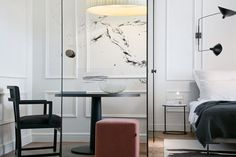 View full picture gallery of Hotel Adriatic Interior Architecture, Interior And Exterior, Color Interior, Interior Design Images, Black Lamps, Home And Living, Living Room, Colorful Interiors, Furniture