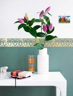 Bordüre zum abtrennen zwischen unterschiedlichen Wandfarben