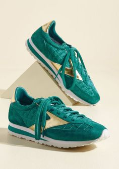 Espresso of Interest Sneaker in Sea - Green, Gold, Solid, Quilted, Casual, Lounge, Athletic, Winter, Better, Lace Up, Green, Saturated, Low, Leather