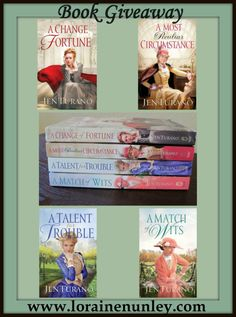 Giveaway at Loraine Nunley's website: Ladies of Distinction Series by Jen Turano #BookGiveaway