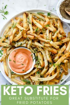 Killer Garlic Fries with Rosemary via Foodie Crush! This copycat recipe of the famous Gordon-Biersch garlic fries couldn't be easier to make at home, and because they can be baked in the oven or the air fryer, they're a healthier version, to Think Food, I Love Food, Good Food, Delicious Food, Yummy Healthy Food, Healthy Foods, Vegan Finger Foods, Healthy Chicken, Cooking Recipes