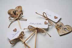 Zápich do cukroví lesní / Zboží prodejce atelier MADE | Fler.cz Sweet Bar, Place Cards, Place Card Holders, Weddings, Atelier, Wedding, Marriage