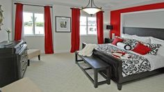 Love the red, black, gray colour scheme soooo much!