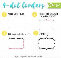 Cute Doodles Anyone Can Draw — Sweet PlanIt Doodle Fonts, Doodle Borders, Doodle Lettering, Brush Lettering, Note Doodles, Bujo Doodles, Simple Doodles, Doodle Learn, You Doodle