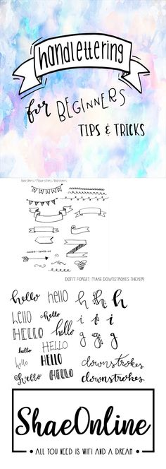 #lettering #handlettering #calligraphy #shaeonline #howto #blog #beginners