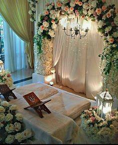 43 New Ideas Decor Ideas Wedding Ceremony Backdrop Nikah Ceremony, Wedding Ceremony Flowers, Ceremony Backdrop, Muslim Wedding Ceremony, Backdrop Photobooth, Pakistani Wedding Stage, Islam Wedding, Backdrop Wedding, Dress Wedding