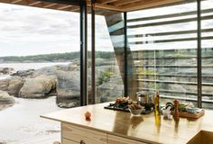 Cabin Lille Arøya by Lund Hagem Architects, between Norwegian rocks and sea Lund, Architects, Rocks, Cottage, Cabin, Sea, Outdoor Decor, Furniture, Home Decor
