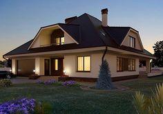 Modern Bungalow House, Architectural House Plans, Home Living, Architecture Design, Villa, House Design, Cabin, House Styles, Home Decor