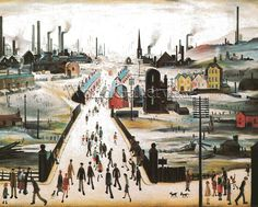 """""""The Canal Bridge"""", by L.S. Lowry, 1949"""