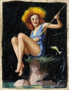 Ah Ah, remember, it's catch & release........Earl Moran, artist