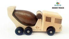 Деревянная игрушка Бетономешалка. Авторский дизайн, ручная работа. Только на сайте Ecotoysbrands.ru