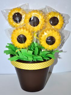 Sunflower Chocolate Covered Oreo Bouquet