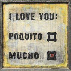 "CHARTREUSETOGO — ""I Love You Mucho"" Wall Art"