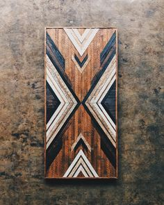 A commission for Denise. Made from wood rescued from a home built in 1930 in the 12 South neighborhood of Nashville, TN. Interested in a… Reclaimed Wood Wall Art, Wooden Wall Art, Barn Wood, Salvaged Wood, Diy Wood Projects, Wood Crafts, Project Projects, Wood Mosaic, Nashville