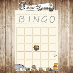 Winnie the Pooh Shower Bingo Game Cards  by RusticElegance18, $4.99