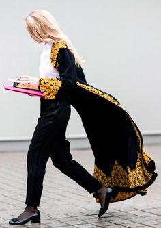 Negro y dorado Paris Alta Costura