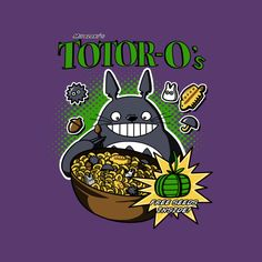 Totoro's Cereal T Shirt By Mikaelak Design By Humans