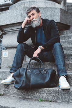 60-year old Hipster Fashion Model
