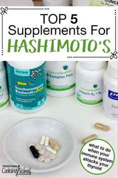 If suffering from sypmtoms of Hashimotos Thyroiditis (or thyroid disease), what's the best way to heal? Especially when the thyroid is the metabolic and hormone control center for the entire body! Consider these top five beneficial supplements for Ha Hashimotos Disease Diet, Hashimoto Thyroid Disease, Autoimmune Disease, Hypothyroidism Diet, Thyroid Supplements, Thyroid Health, Thyroid Cure, Gut Health, How To Lose Weight Fast